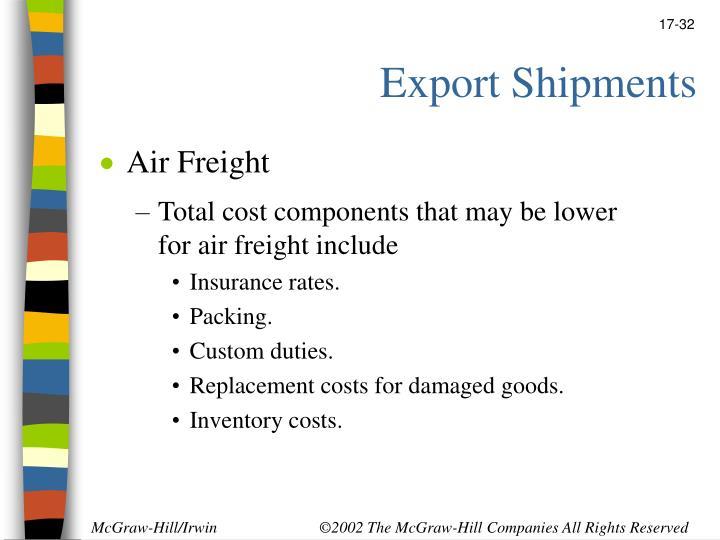 Export Shipments