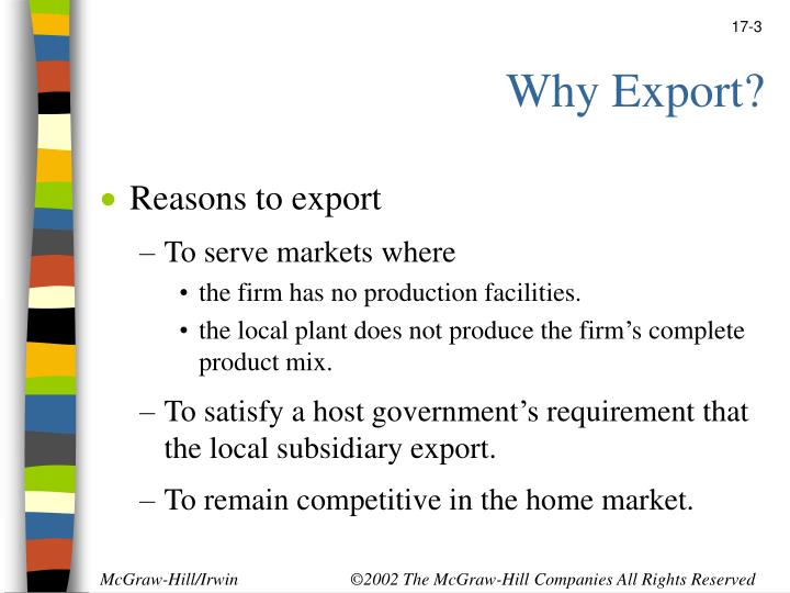 Why export