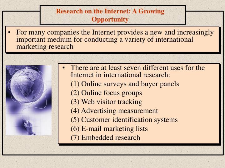 importance of international marketing research