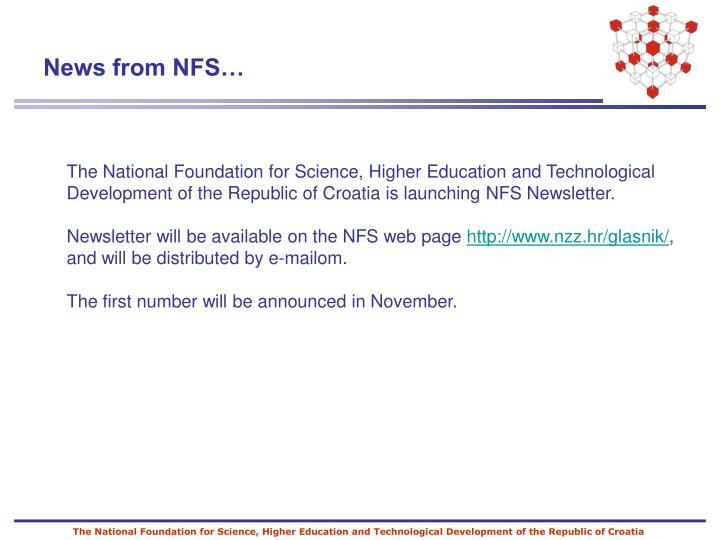The National Foundation for Science, Higher Education and Technological Development of the Republic of Croatia