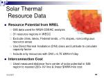 solar thermal resource data
