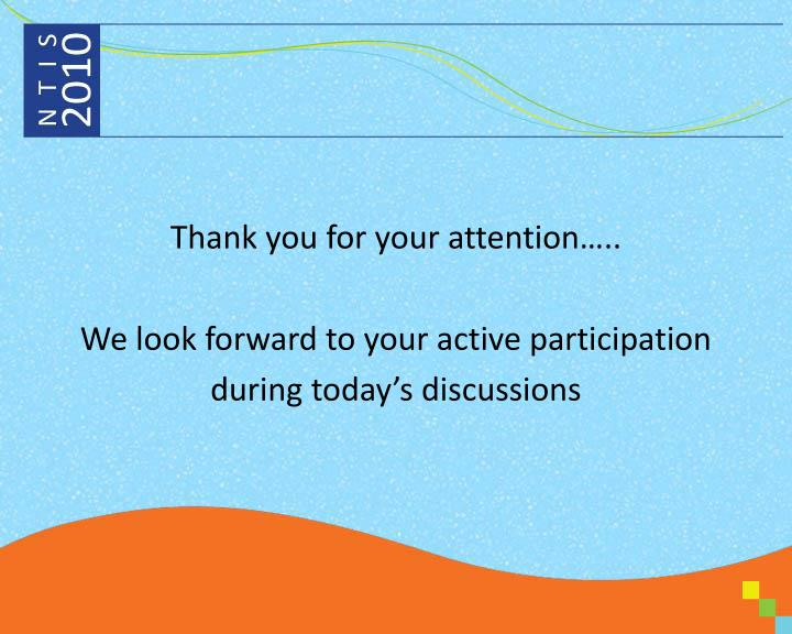 Thank you for your attention…..