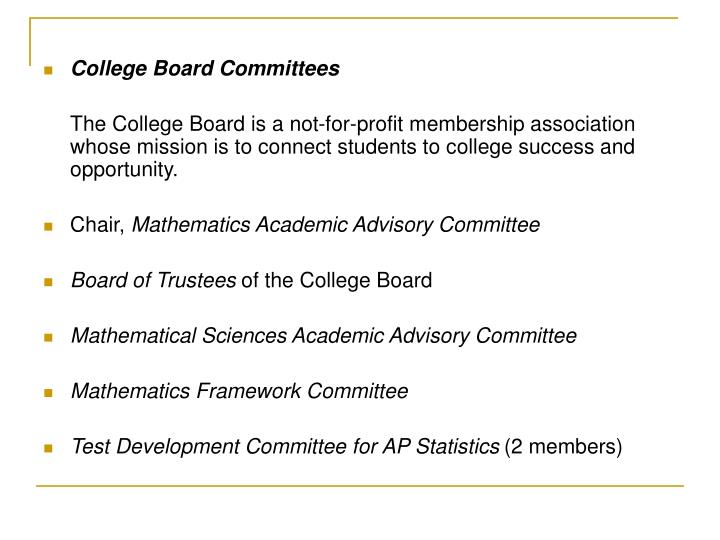College Board Committees