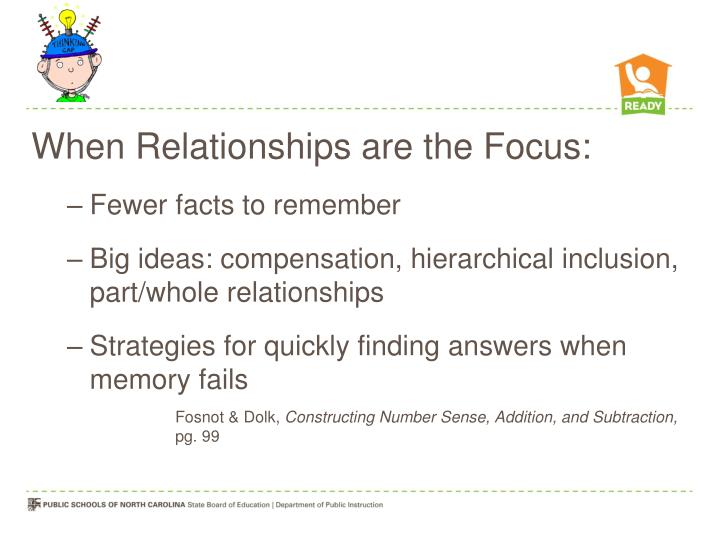 When Relationships are the Focus: