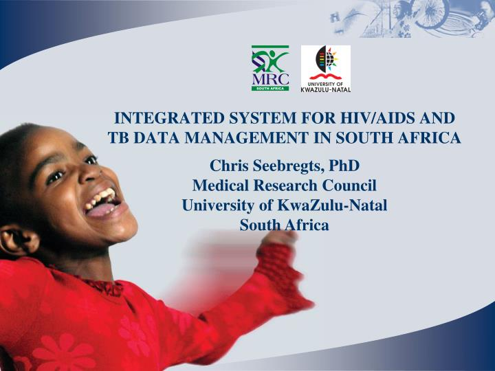 integrated system for hiv aids and tb data management in south africa n.