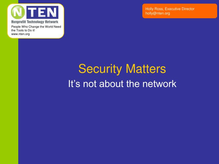 security matters n.