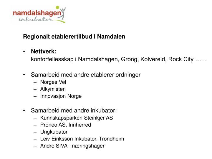 Regionalt etablerertilbud i Namdalen