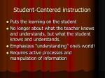 student centered instruction