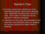 teacher s time