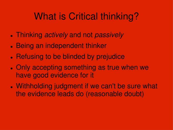 what is critical thinking n.