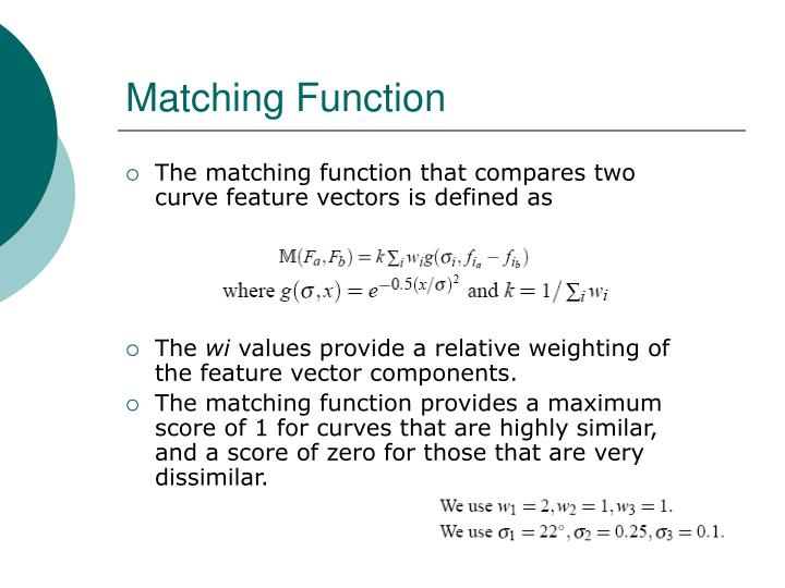 Matching Function