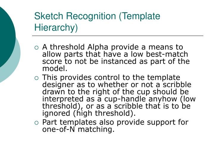 Sketch Recognition (Template Hierarchy)