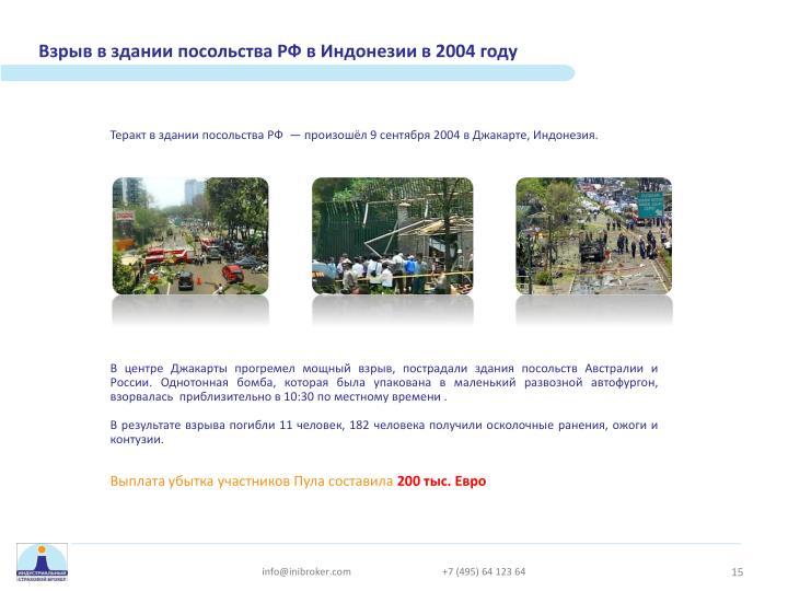Взрыв в здании посольства РФ в Индонезии в 2004 году