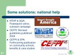 some solutions national help