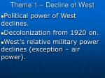 theme 1 decline of west1