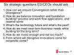 six strategic questions ed ceos should ask