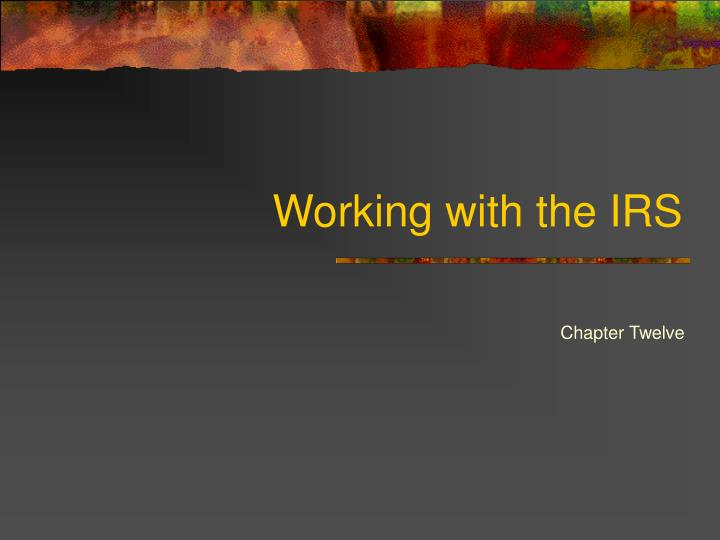 working with the irs n.