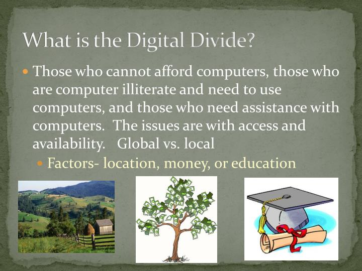 What is the digital divide