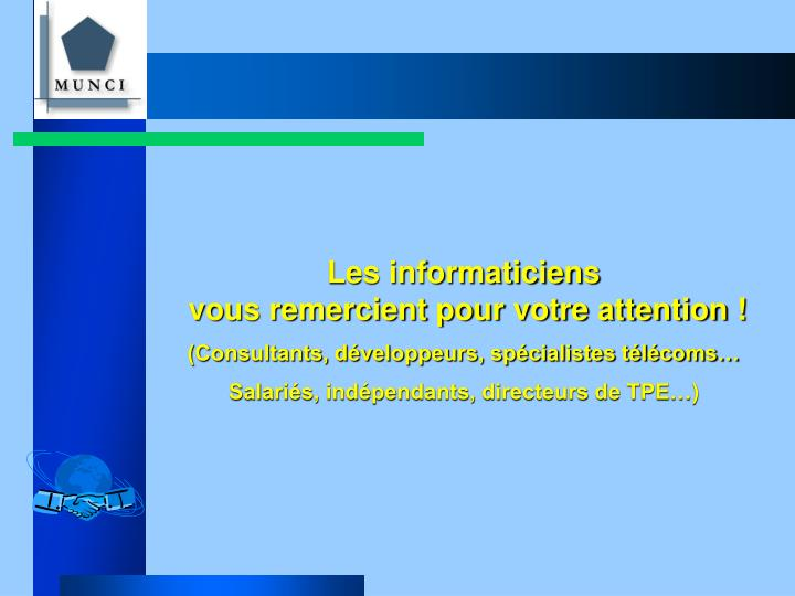 Les informaticiens