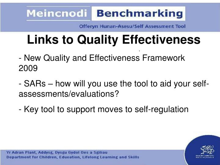 Links to Quality Effectiveness