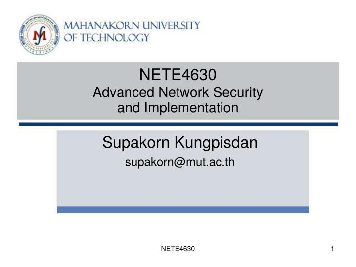 nete4630 advanced network security and implementation n.