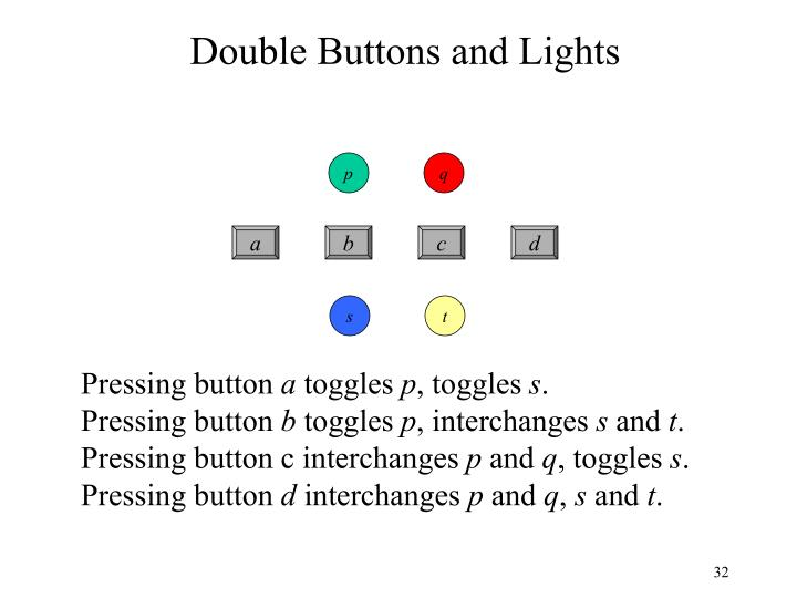Double Buttons and Lights
