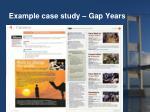 example case study gap years