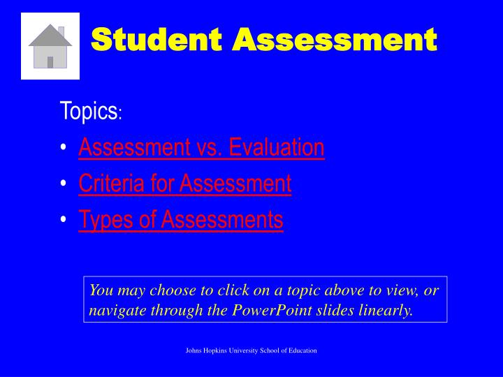 Ppt  Student Assessment Powerpoint Presentation  Id