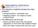 aggregating distortions