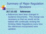 summary of major regulation revisions2