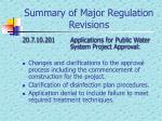 summary of major regulation revisions4
