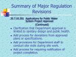 summary of major regulation revisions5