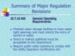 summary of major regulation revisions6