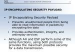 ip encapsulating security payload