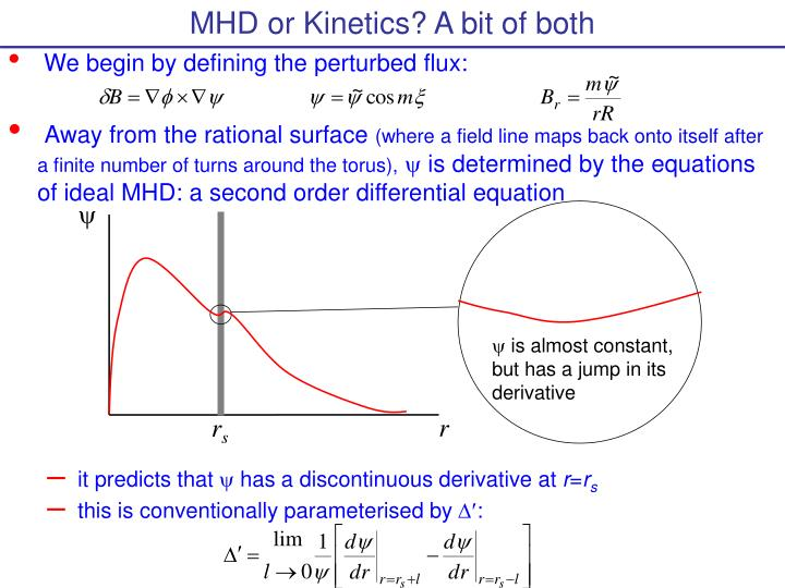 MHD or Kinetics? A bit of both