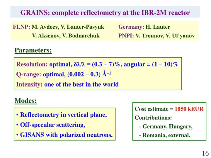 GRAINS: complete reflectometry at the IBR-2M reactor