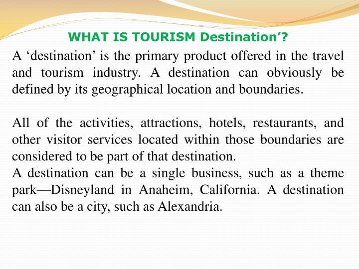 definition of a tourism product