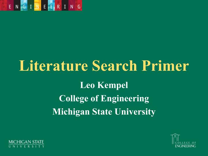 literature search Nih librarians will conduct a thorough search that can include specialty databases not publicly available animal welfare, chemical structure, and protocol support are a few of the specialized searches you may request.
