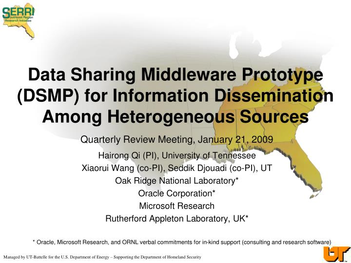 data sharing middleware prototype dsmp for information dissemination among heterogeneous sources n.