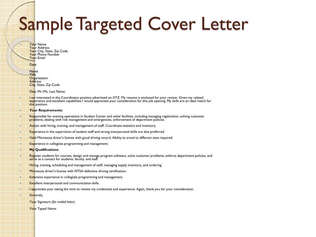 Targeted Cover Letter Sample from image2.slideserve.com