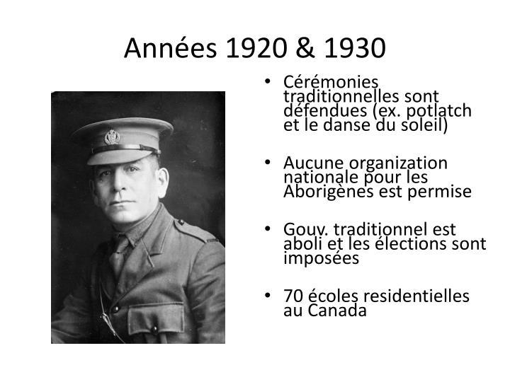 Années 1920 & 1930