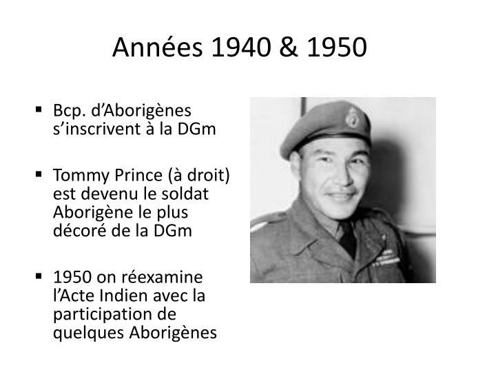 Années 1940 & 1950