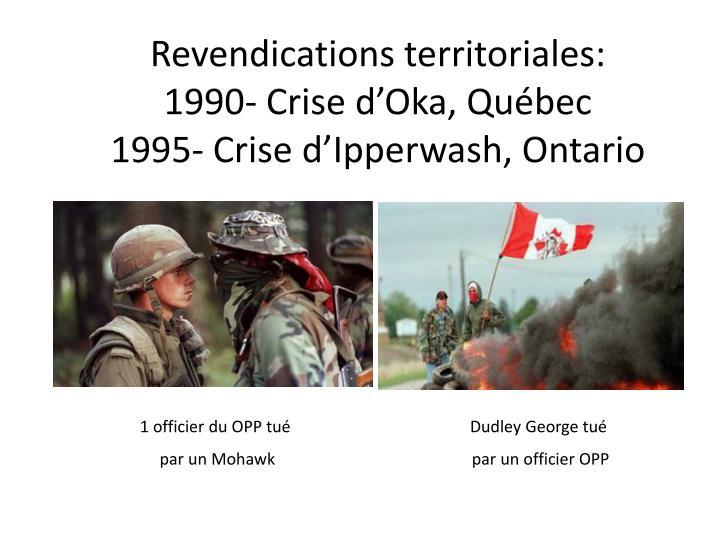 Revendications territoriales: