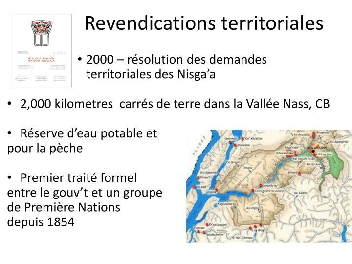 Revendications territoriales