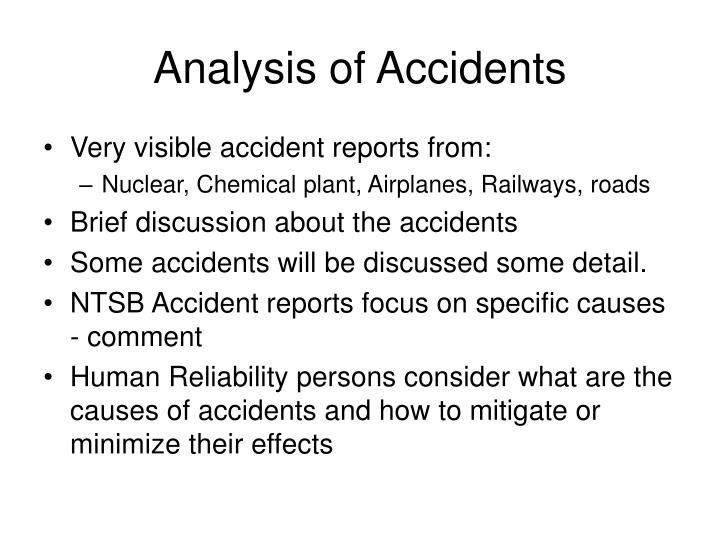 Analysis of Accidents