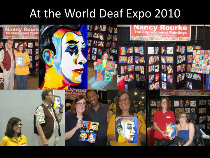 At the World Deaf Expo 2010