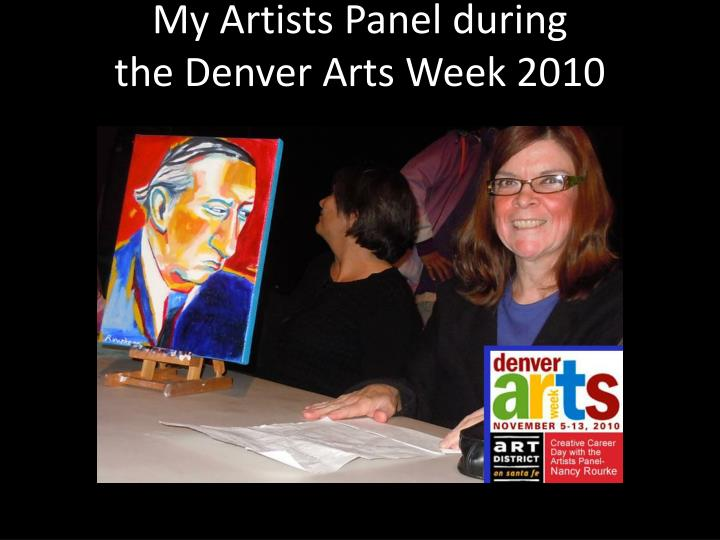 My Artists Panel during