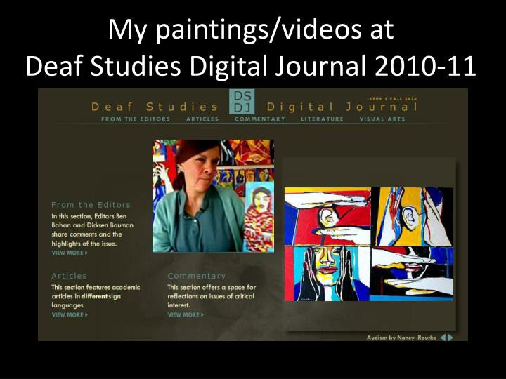 My paintings/videos at