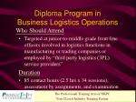 diploma program in business logistics operations1