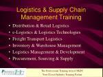 logistics supply chain management training